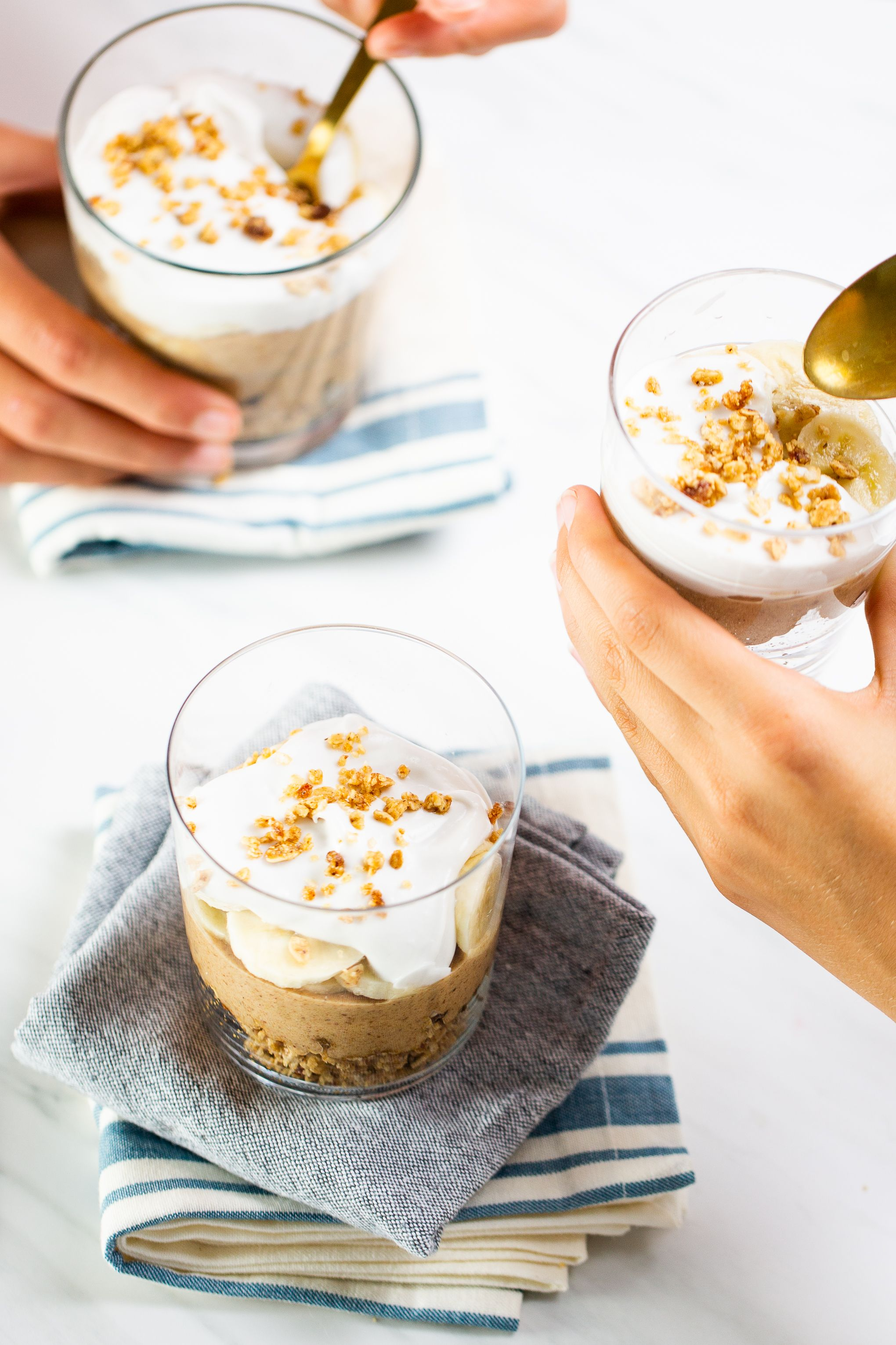 Three Layer Banoffee Pie Parfaits