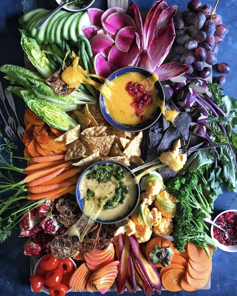The Ultimate Veggie Cheese Platter