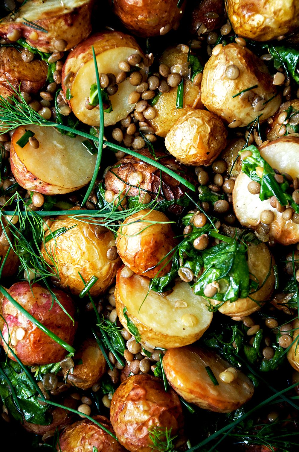 Lentil Potato Salad