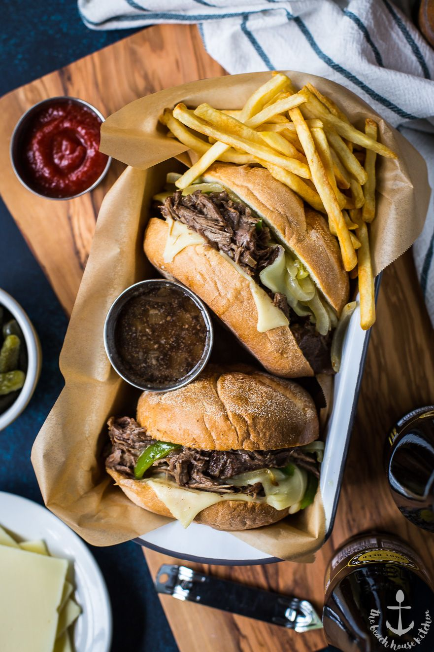 Philly French Dip With Peppers and Onions