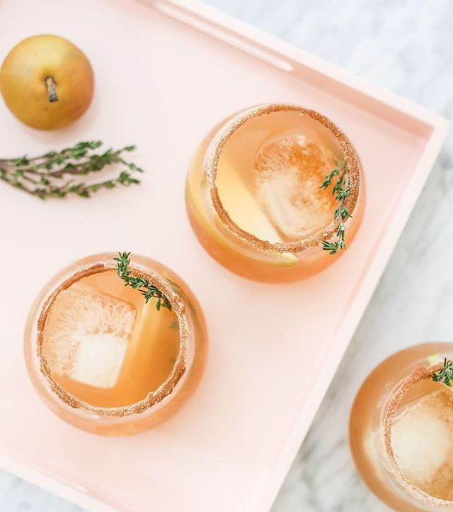 Bourbon and Pear Cider Punch
