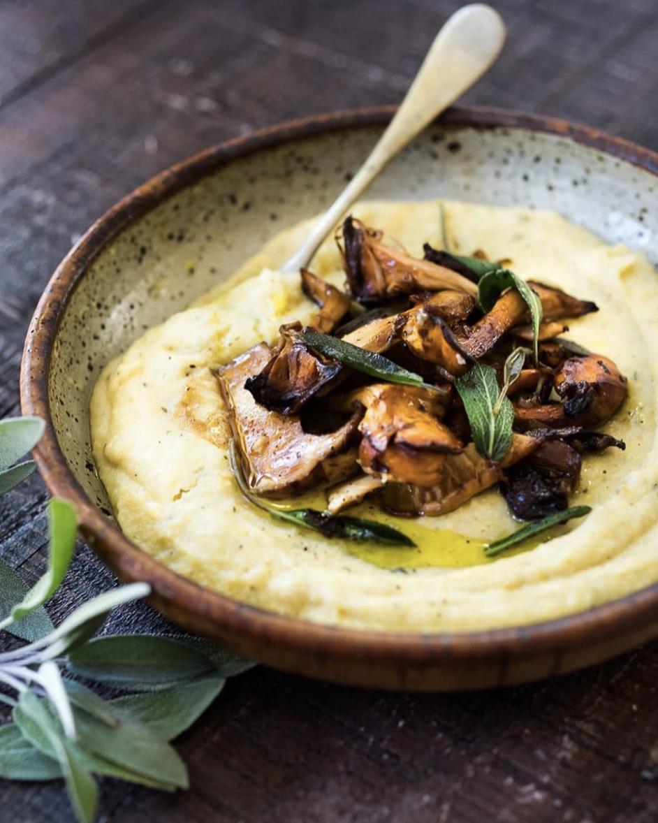 Wild Mushrooms and Roasted Vegetable Polenta