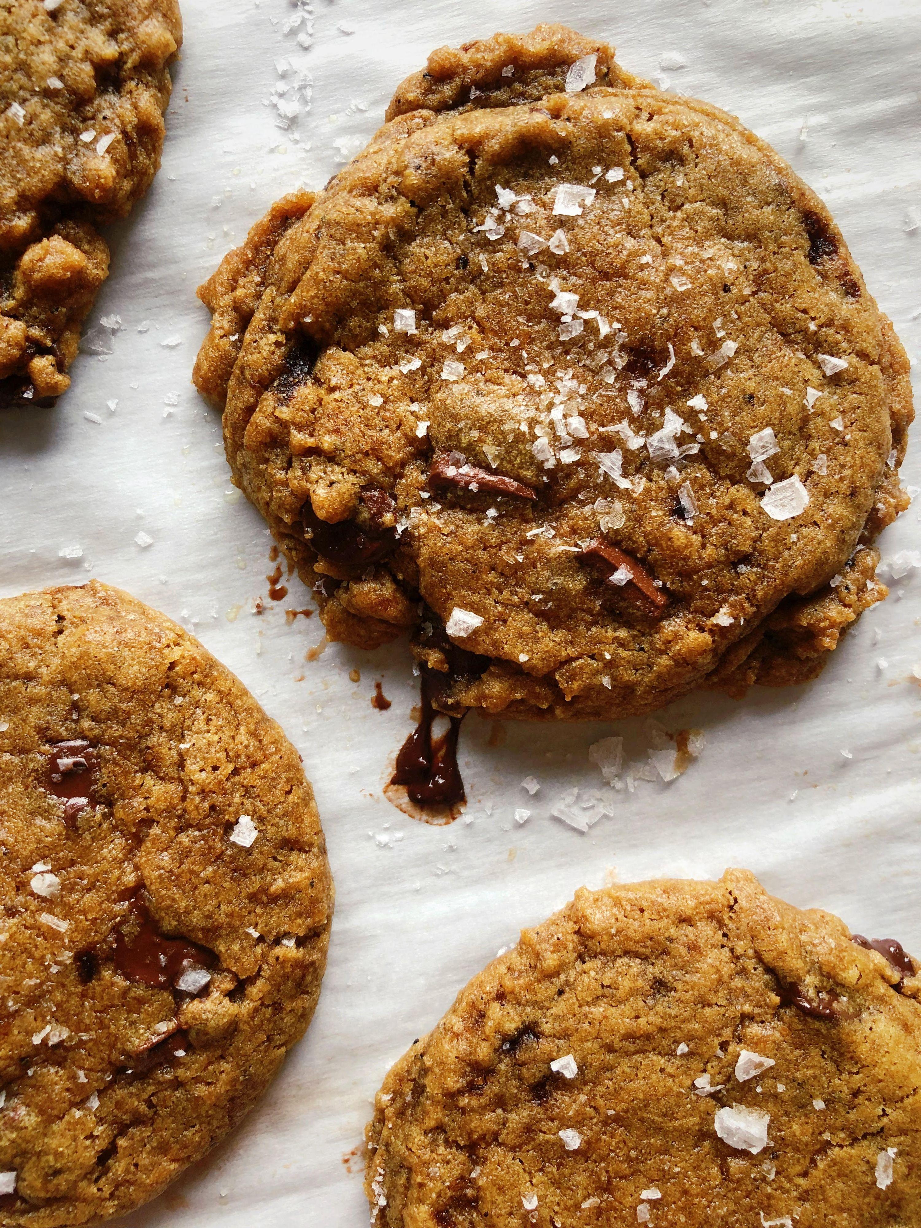 Brown Butter Spelt Chocolate Chunk Cookies