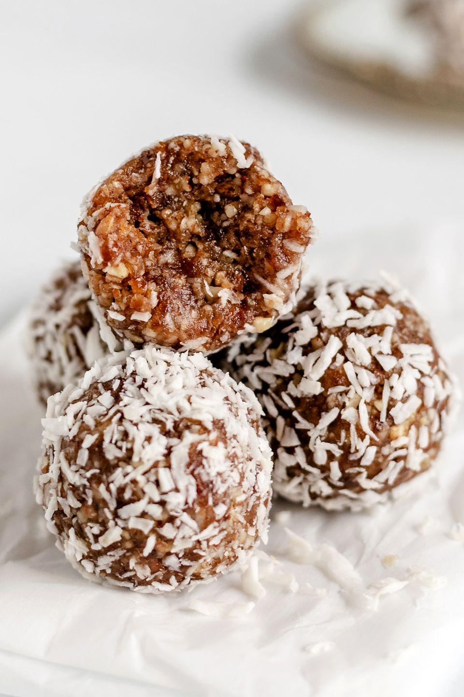 Pecan Pie Salted Maple Energy Balls