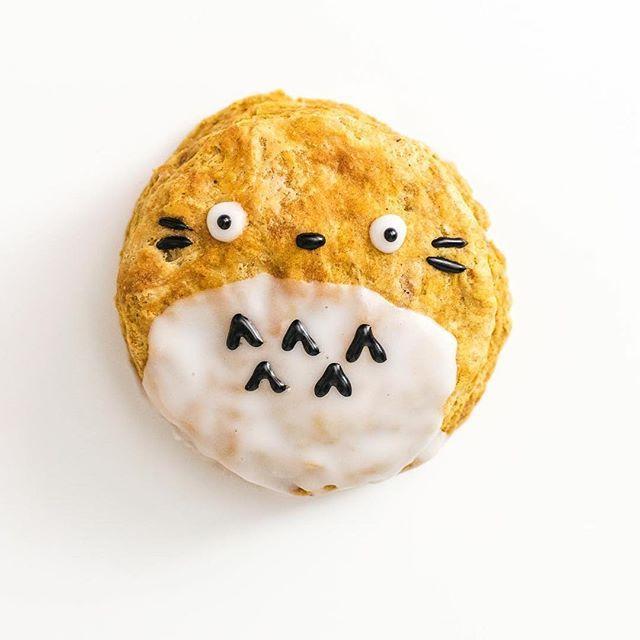 Pumpkin Totoro Scones