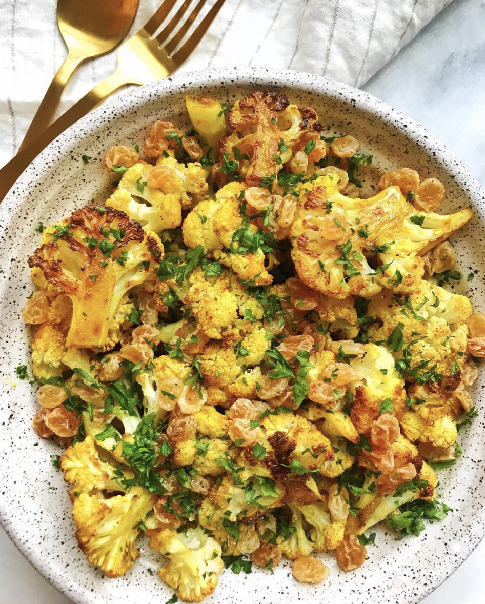 Roasted Curry Turmeric Cauliflower