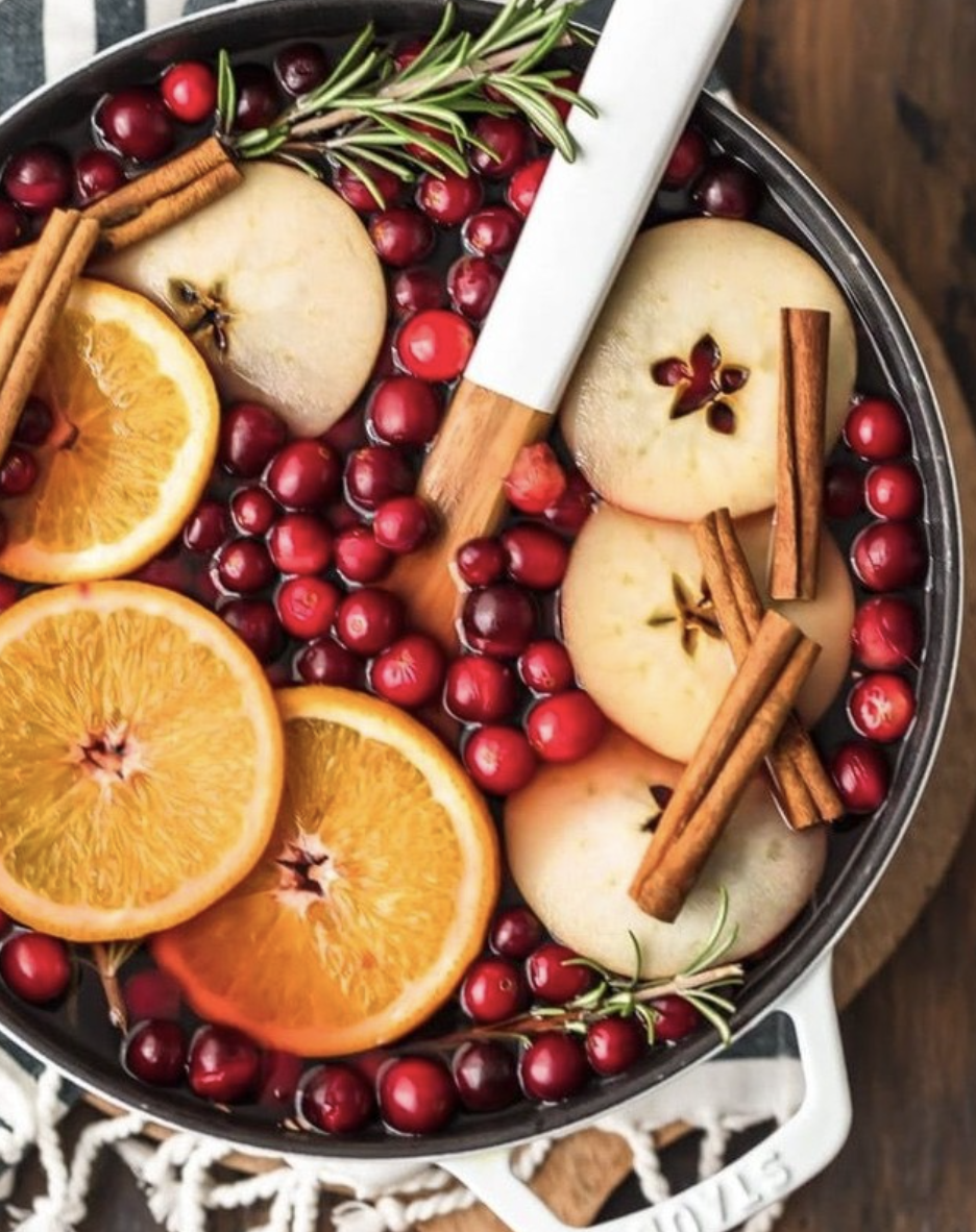 Spiced Apple Cider with Cranberries
