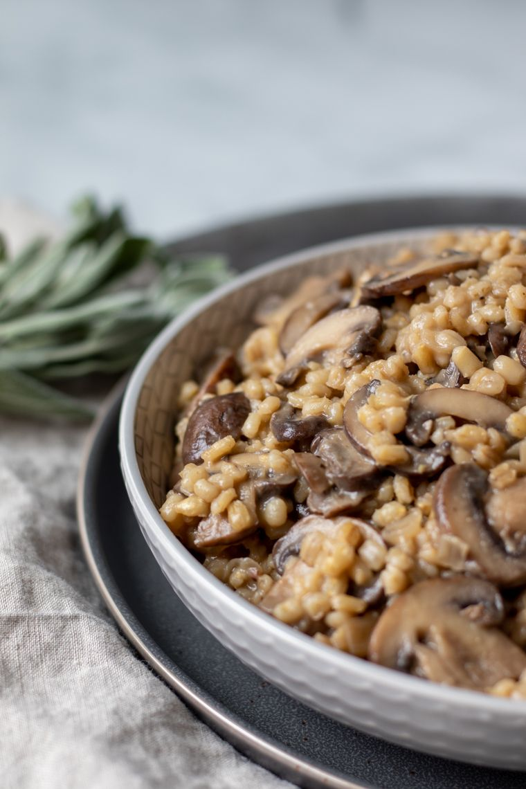 Orzotto with Sage and Mushrooms