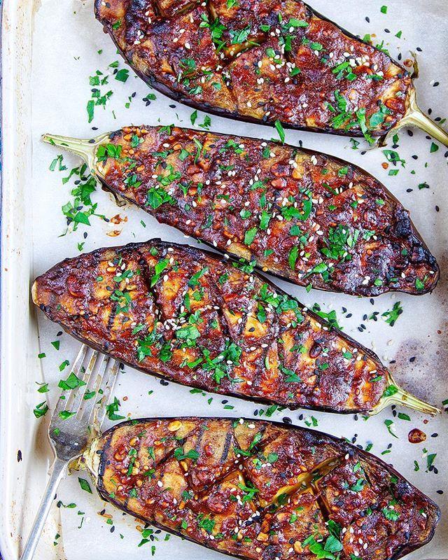 Peanut Butter & Miso Roasted Eggplant