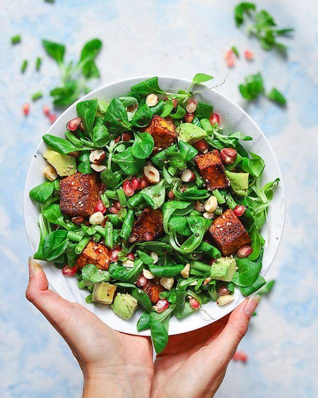 Roasted Pumpkin Salad with Toasted Hazelnut and Pomegranate
