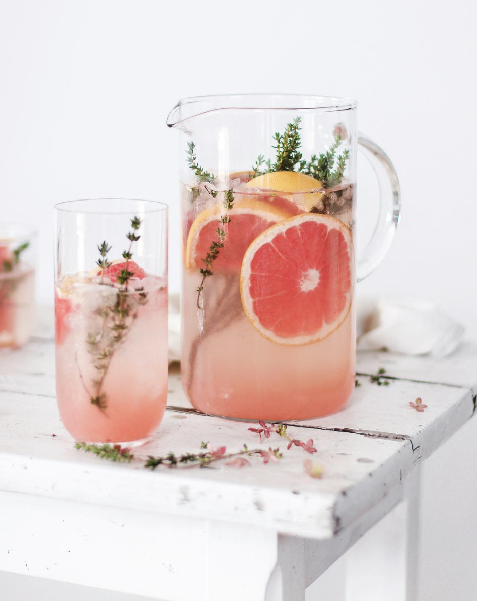 Grapefruit and Thyme Mocktail