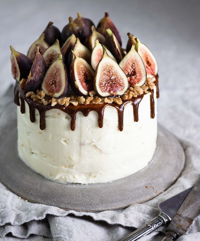 Chai Tea Apple Cake with Figs