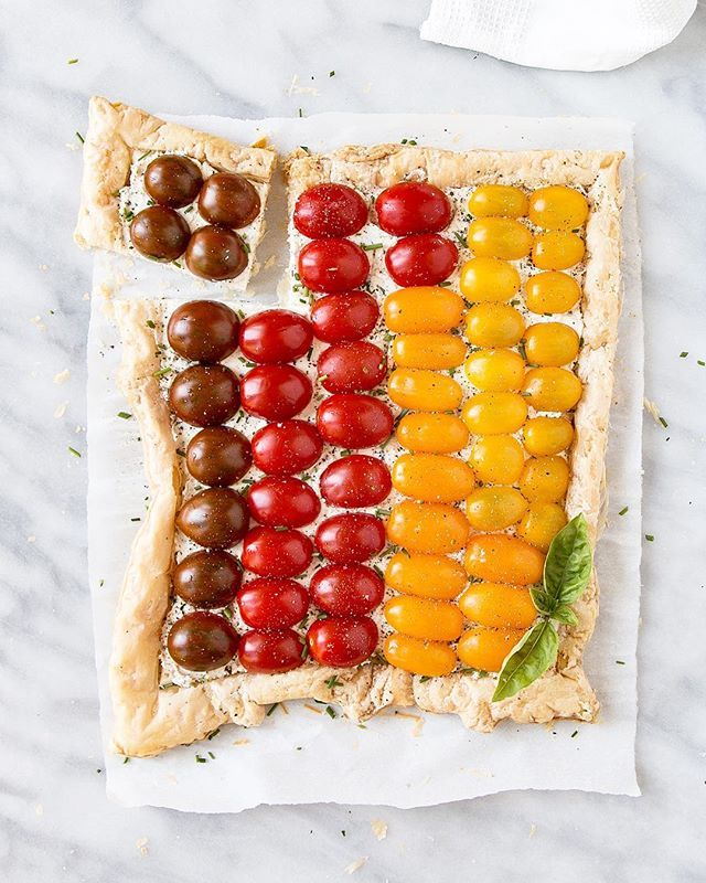 Multi Color Tomato Tart