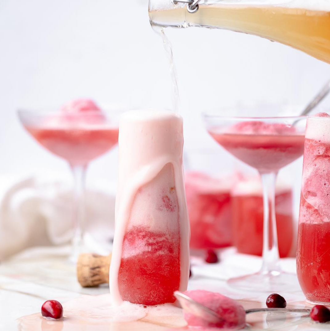 Cranberry Apple Sorbet Cocktail