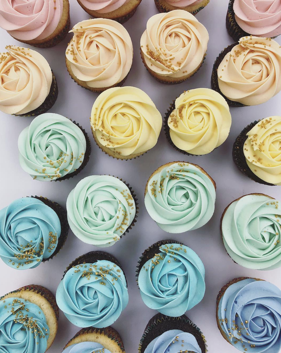 Chocolate and Vanilla Cupcakes with Buttercream Icing