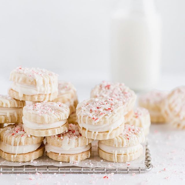 Peppermint Candy Cane Sandwich Cookies