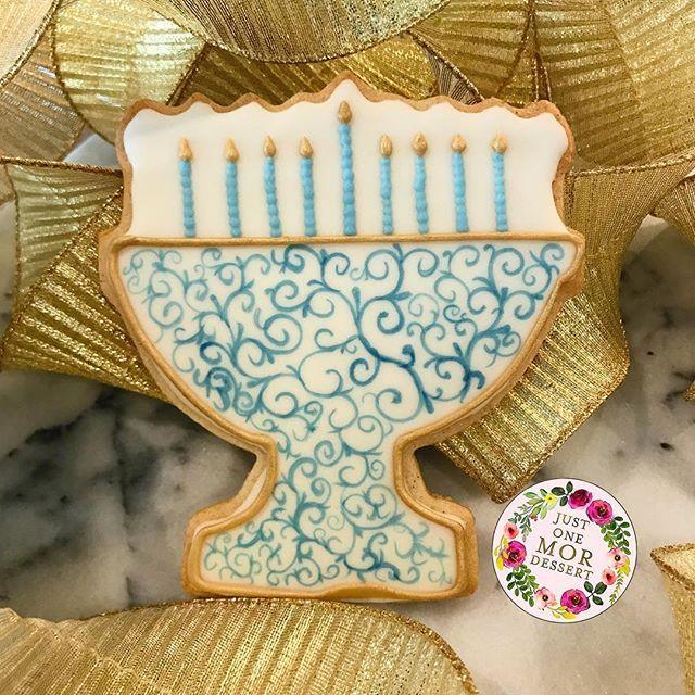 Menorah Sugar Cookies