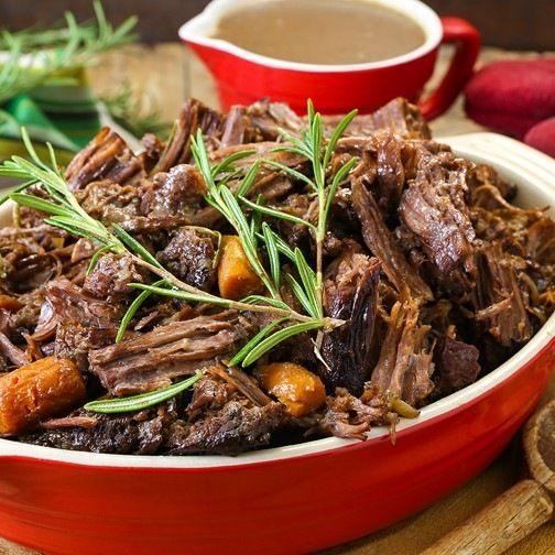 Hearty Pot Roast with Rosemary and Carrots