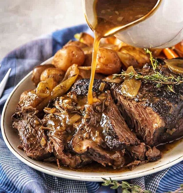 Fall Apart Roast Beef with Thyme