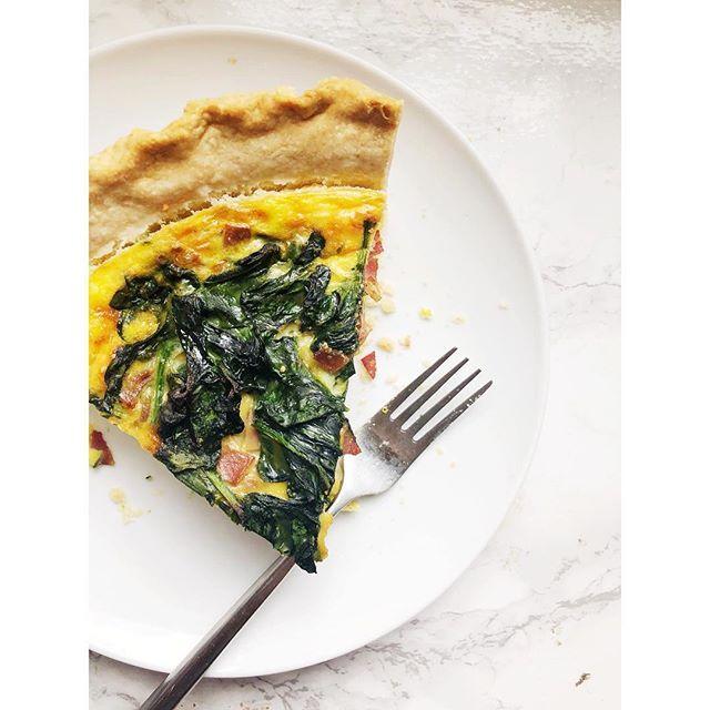 Spinach and Turkey Bacon Quiche