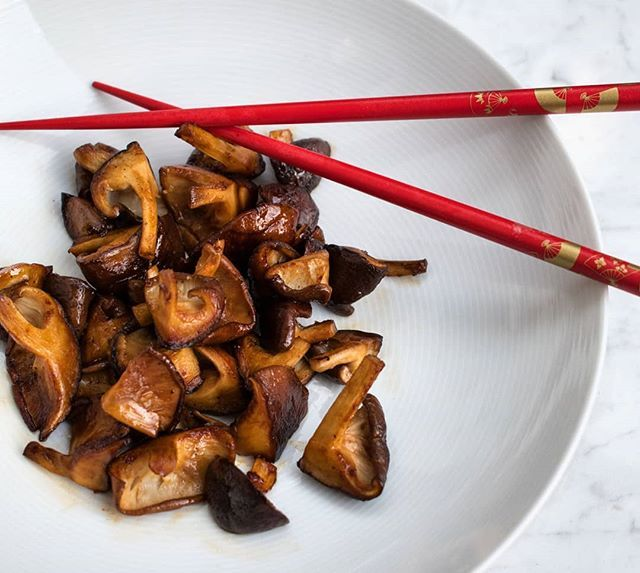 Butter Fried Shiitake with Soy Sauce