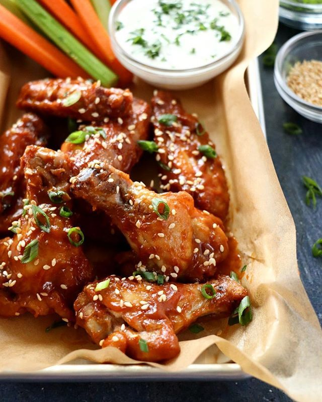 Chicken Wings with Thai Peanut Glaze