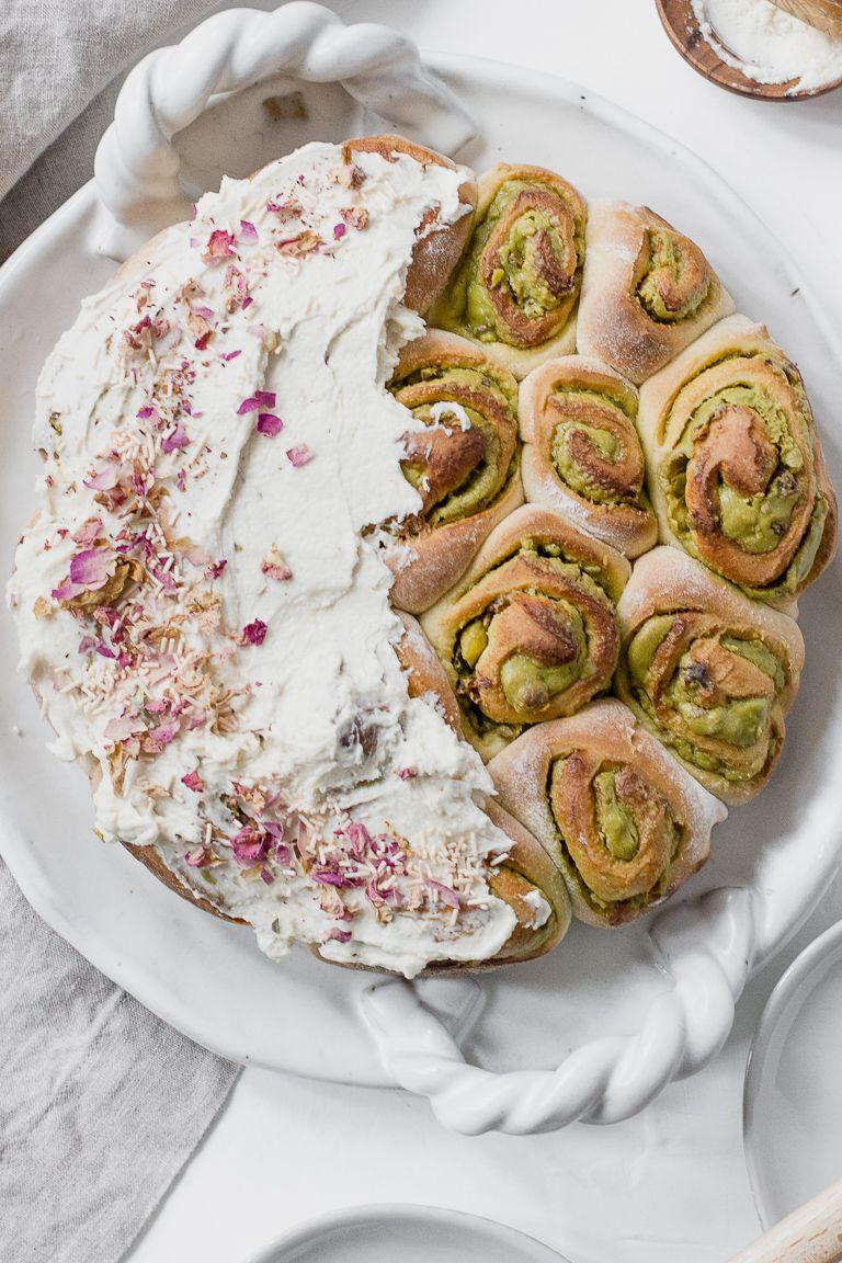 Cardamom Rose and Pistachio Rolls