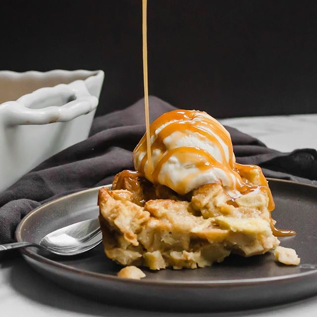 Bread Pudding with Caramel Apple