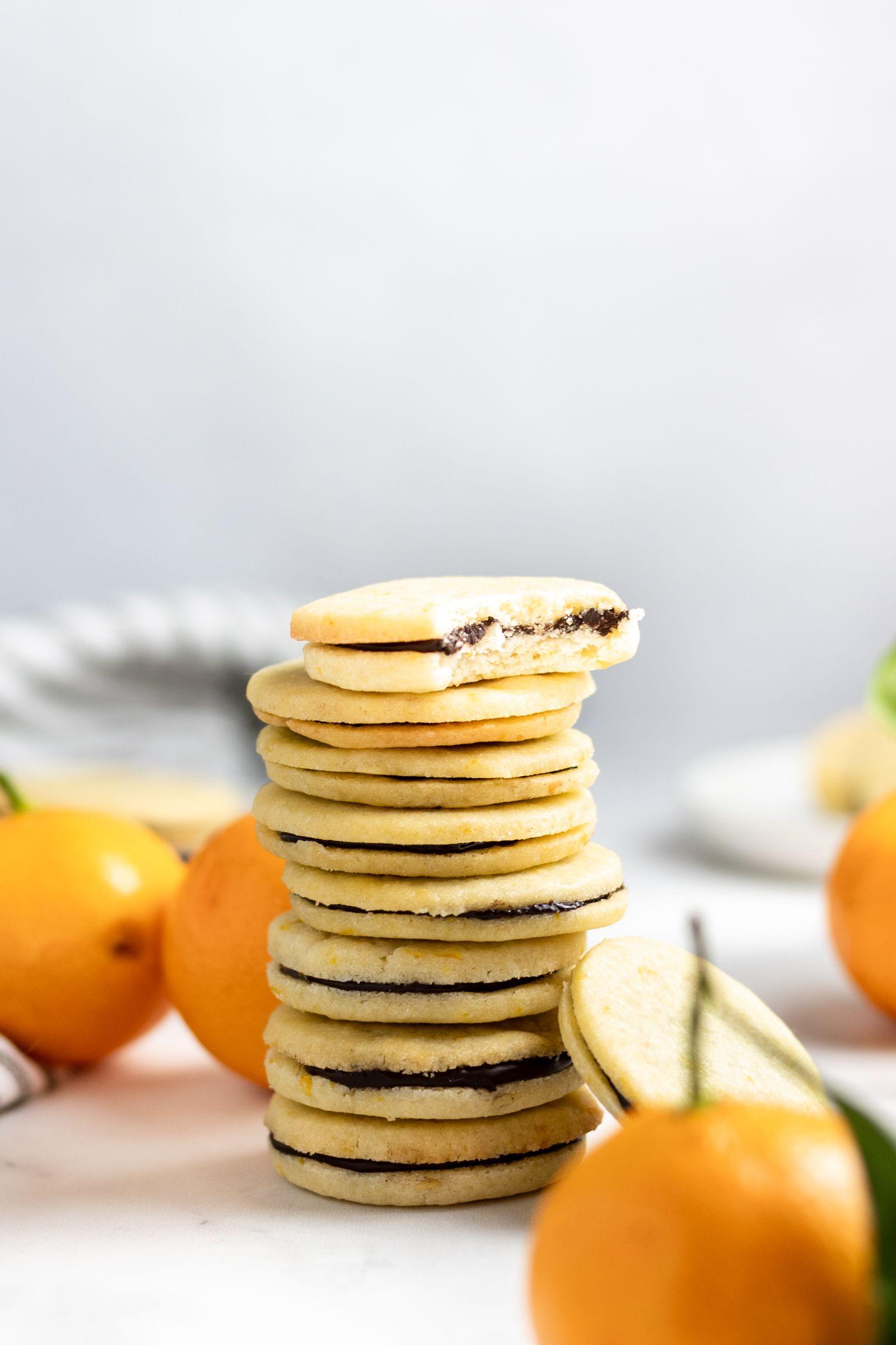 Chocolate and Orange Sandwich Cookies