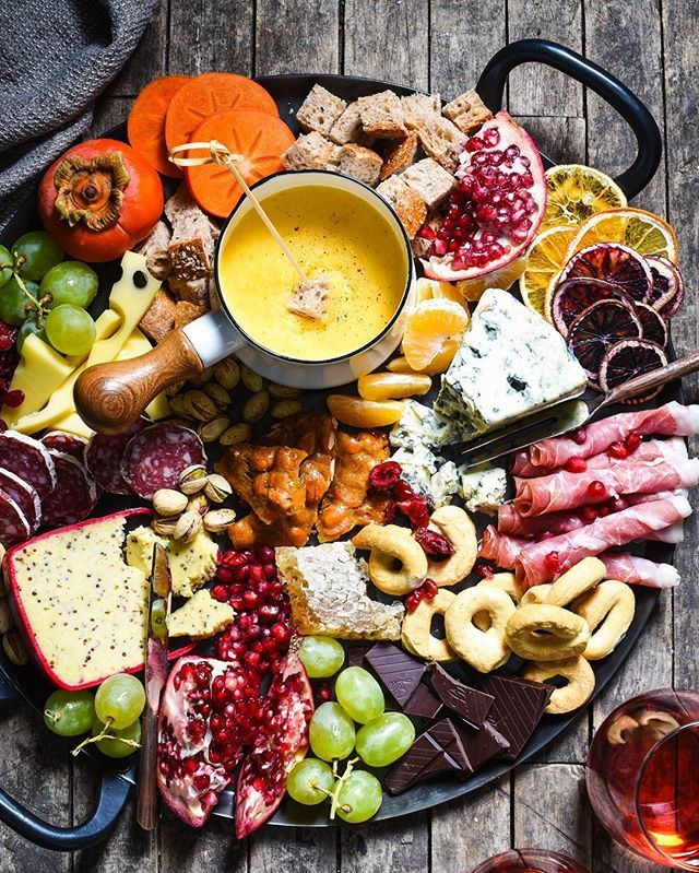 Winter Cheese Board with German Beer Cheese Fondue