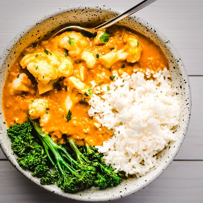 Cauliflower and Yellow Lentil Curry