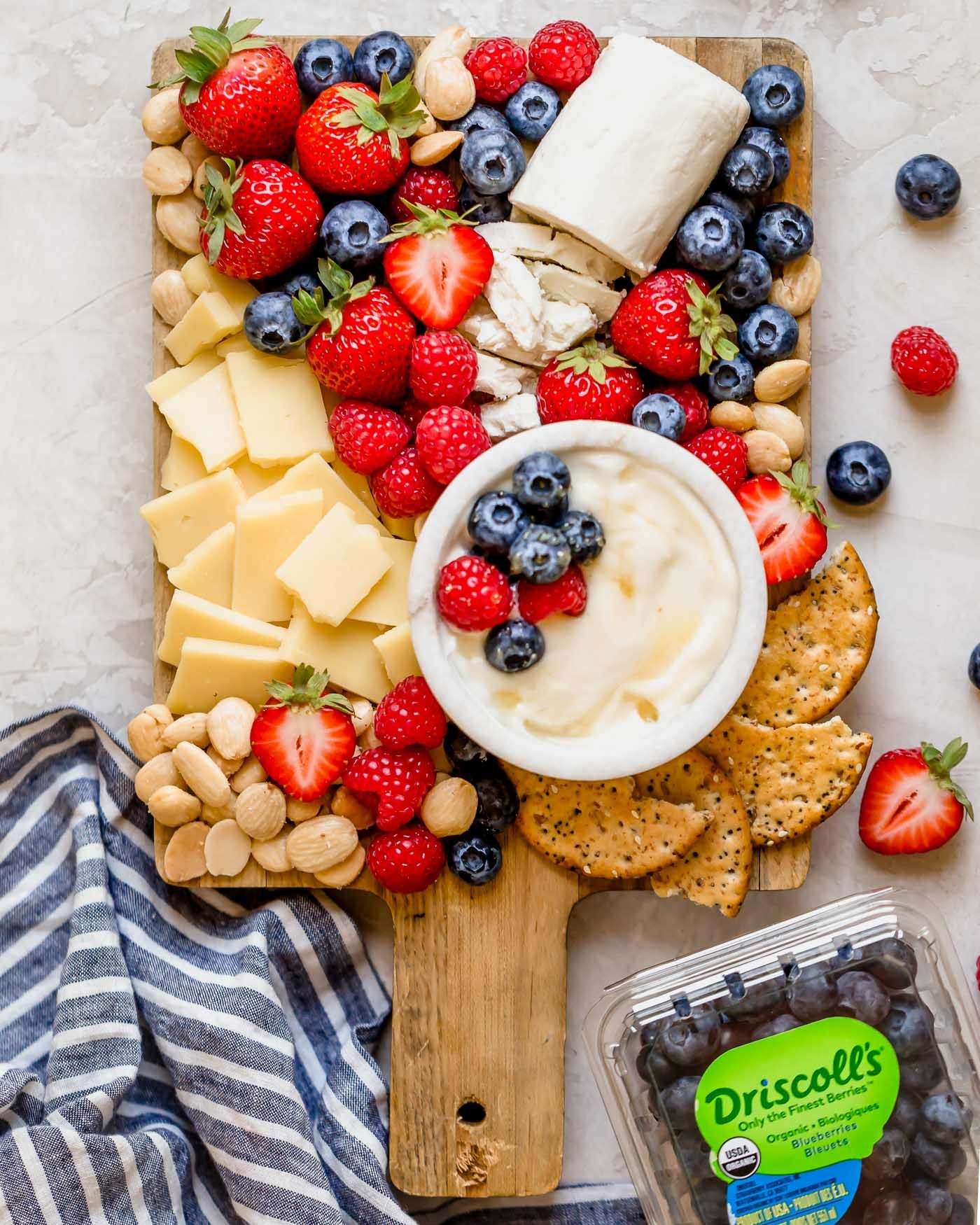 Summer Berry Cheese Board