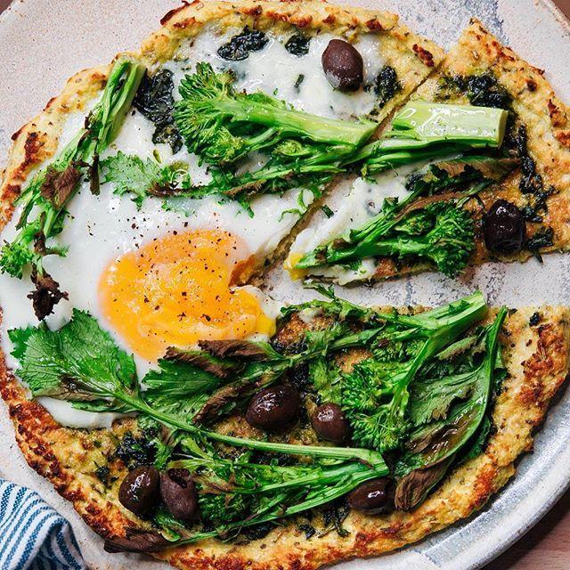 Cauliflower Pizza with Broccoli