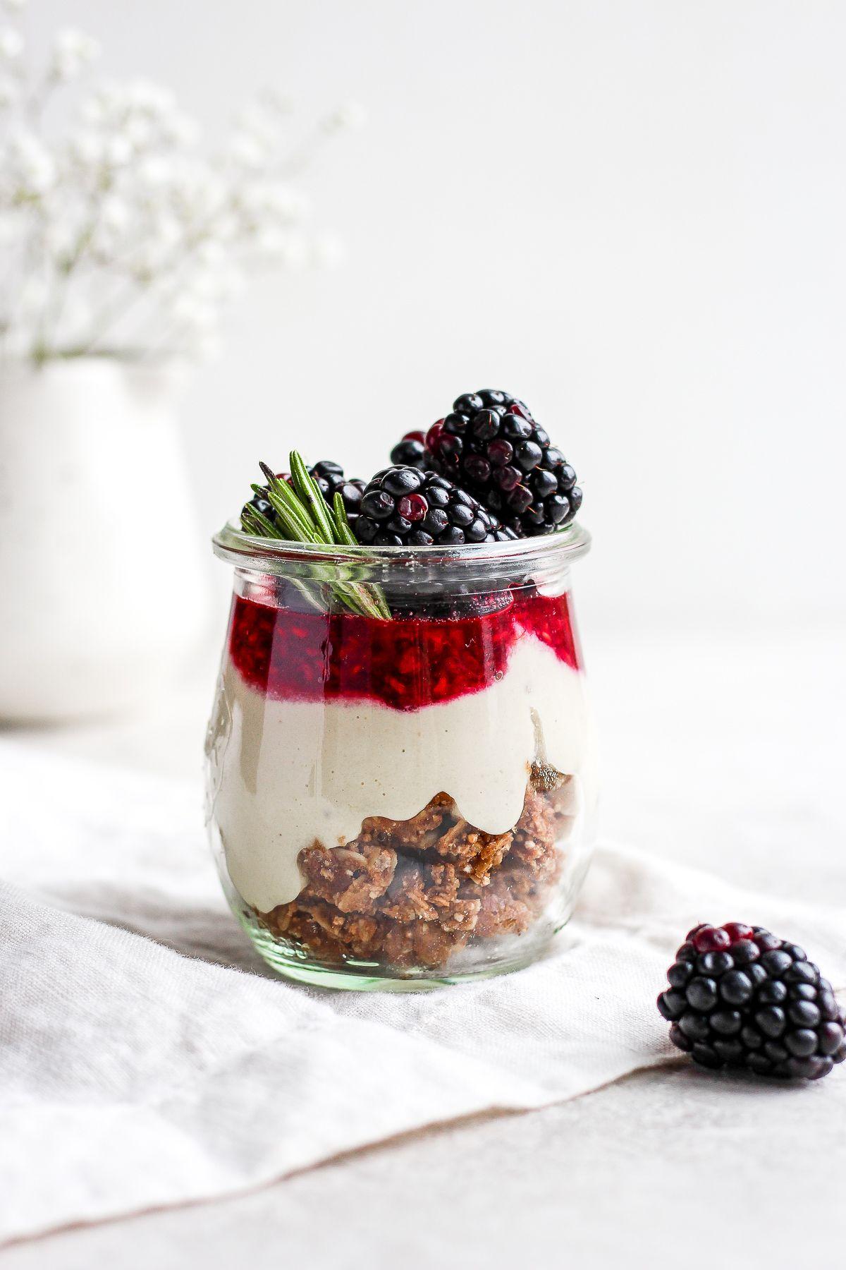 Blackberry Raspberry Cheesecake Jars
