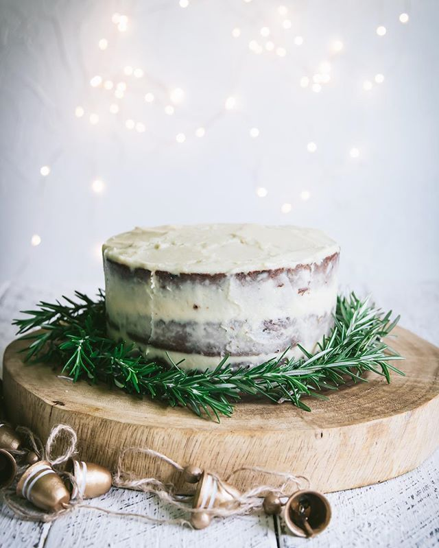 Brandy Cream Cheese Frosted Christmas Layer Cake