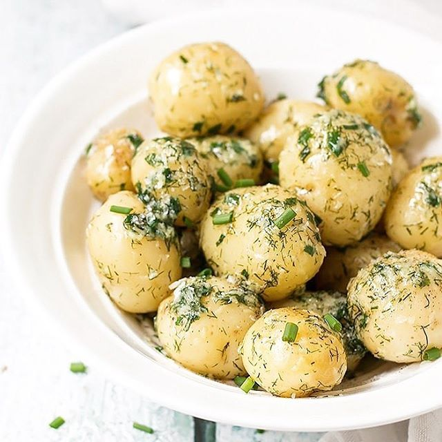 Potatoes with Dill Chives and Sea Salt