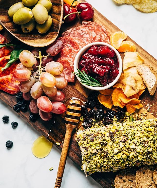 Dairy Free Cranberry Rosemary Cheese Roll and a Holiday Charcuterie Board