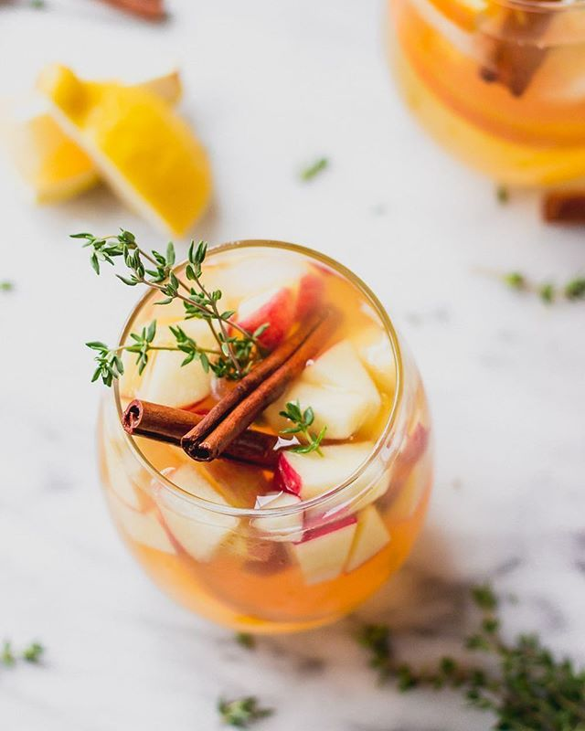 Apple Cider Sangria with Thyme and Cinnamon