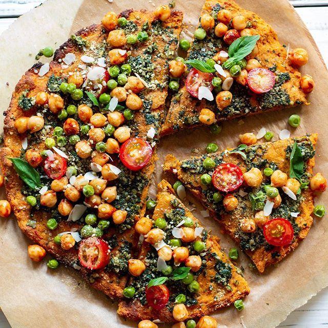 Sweet Potato 'Pizza' Crust