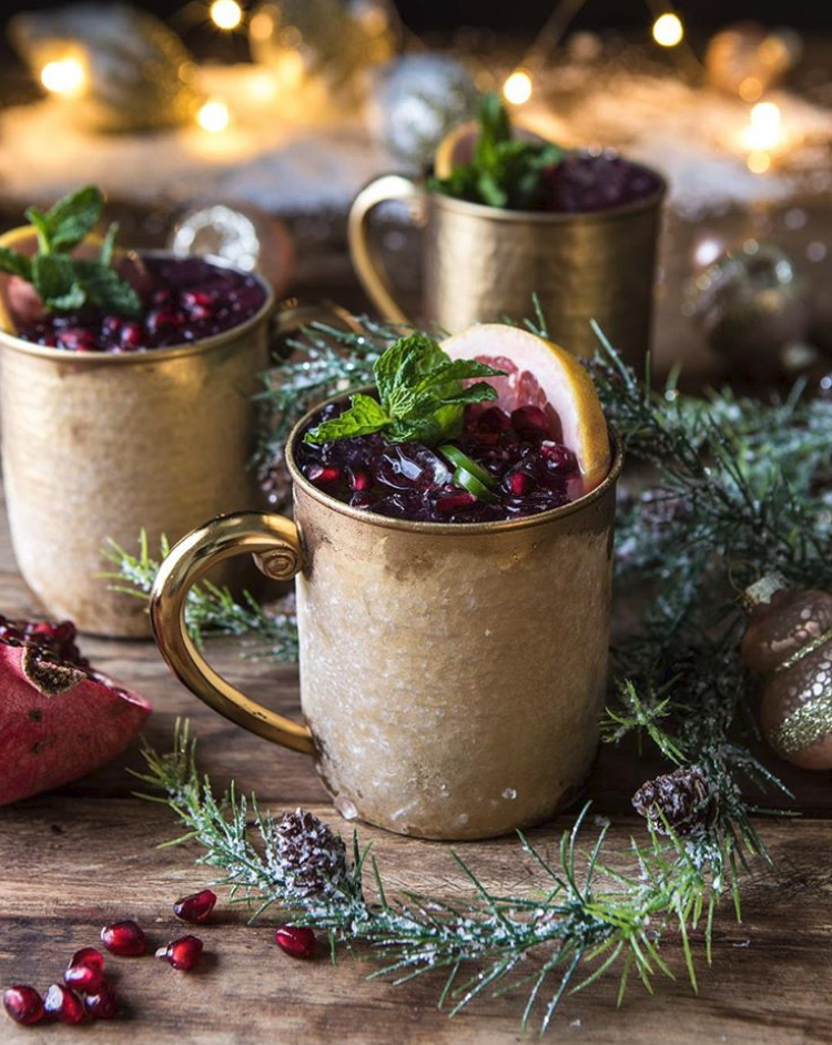 Spiced Moscow Mule with Pomegranate