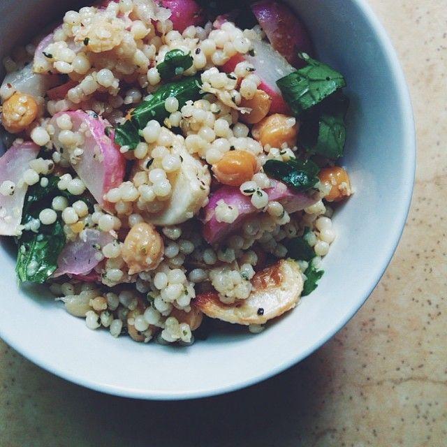Israeli Couscous Salad with Hakurei Turnips & Radishes