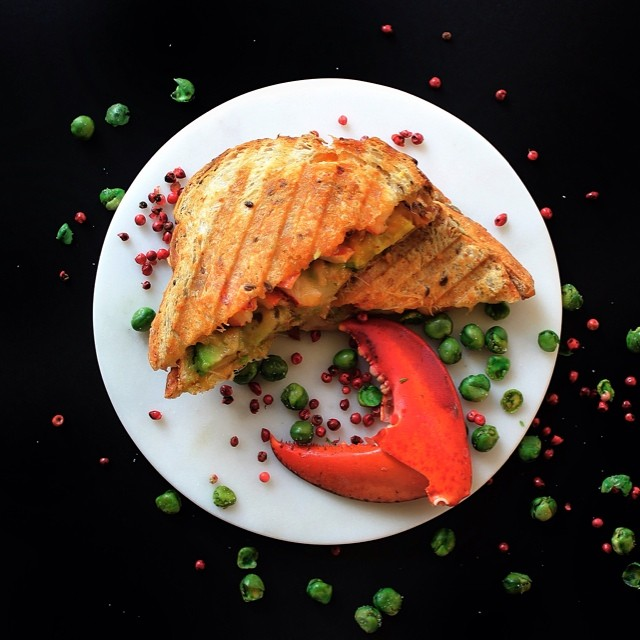 Lobster Grilled Cheese with Avocado