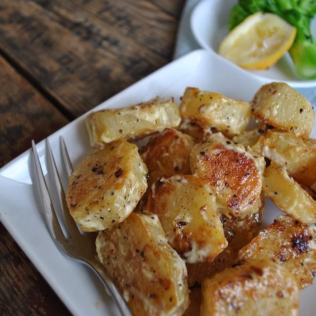 Smoked Paprika-roasted Potato Salad with Lemon Olive Oil Dressing