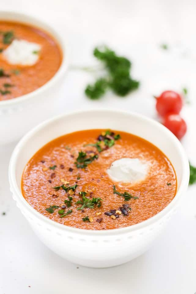 Quinoa, Red Pepper and Tomato Soup