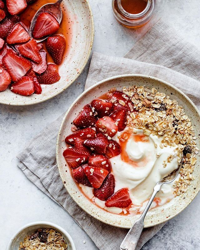 Coconut Yogurt with Maple Roasted Strawberries