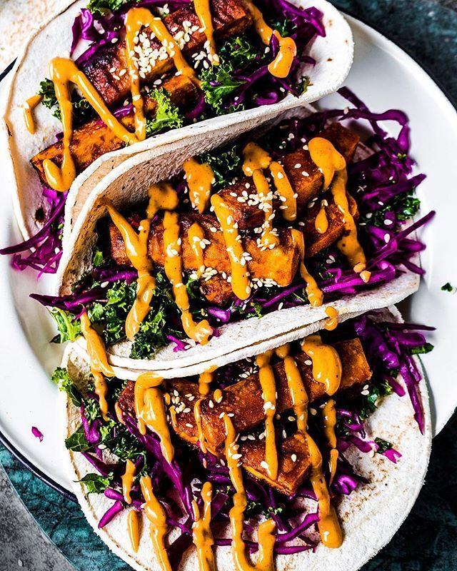 Crispy Red Curry Tofu Tacos