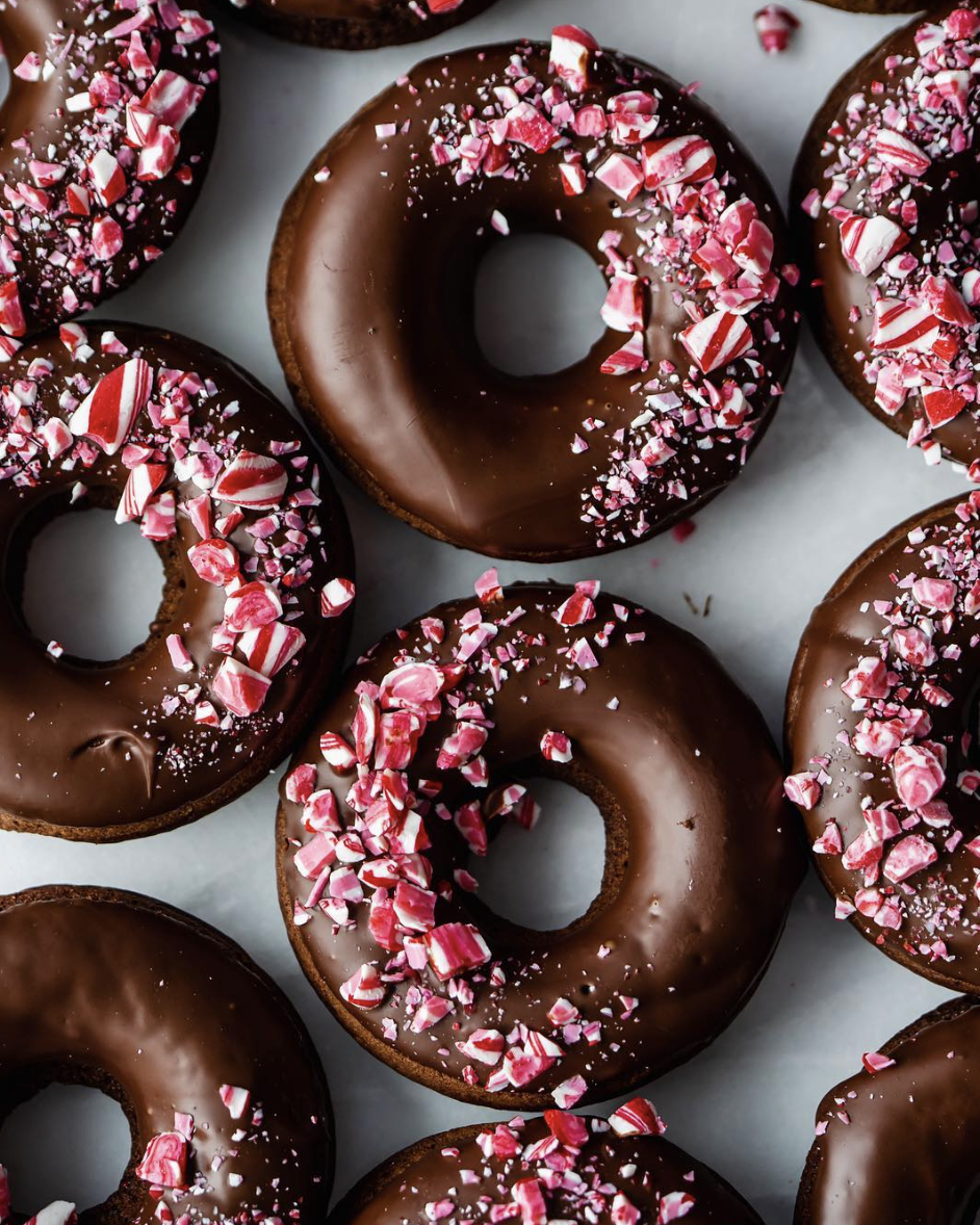 Chocolate Coffee and Peppermint Donuts