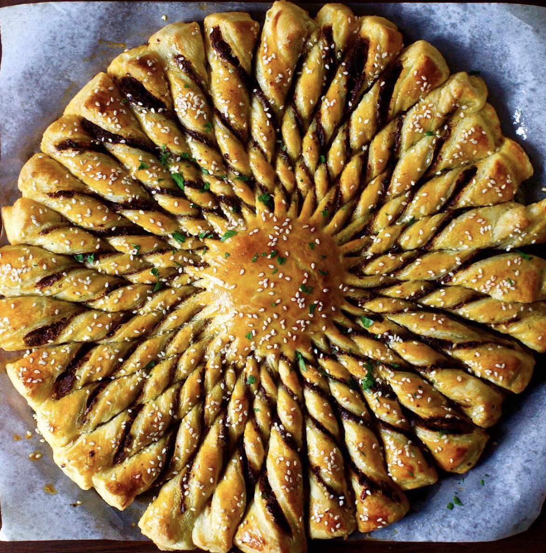 Feta, Sun Dried Tomato & Olive Pastry