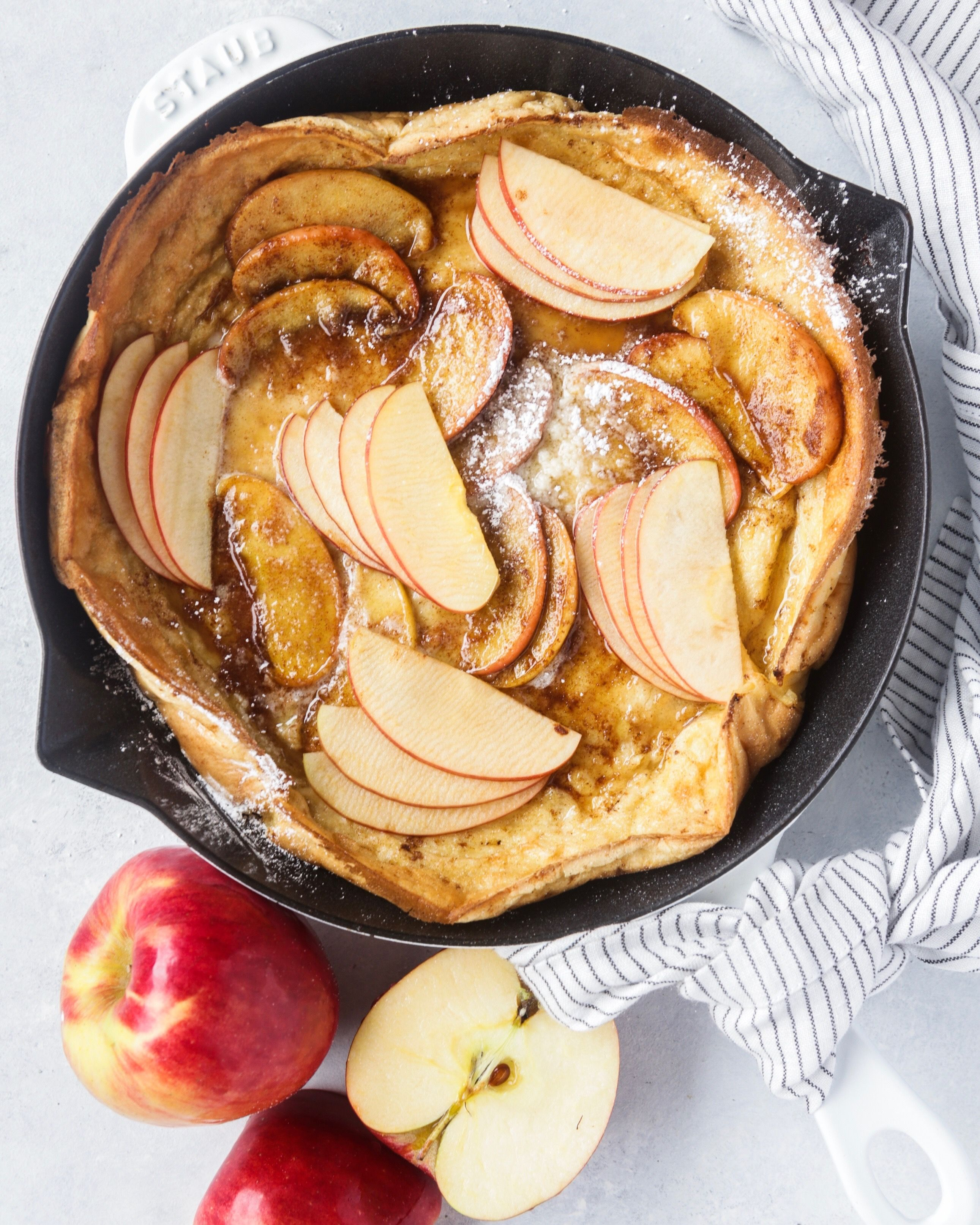 Spiced Dutch Baby with Maple Cinnamon Apples
