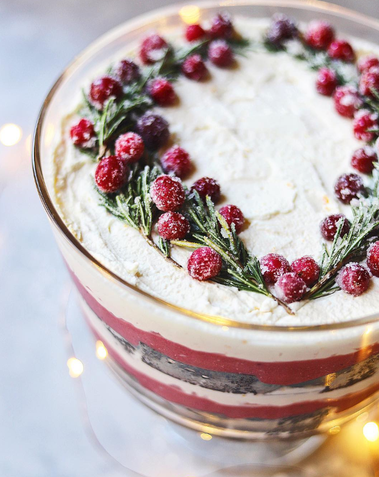 Cranberry Curd, Whipped Cream Ginger Cake